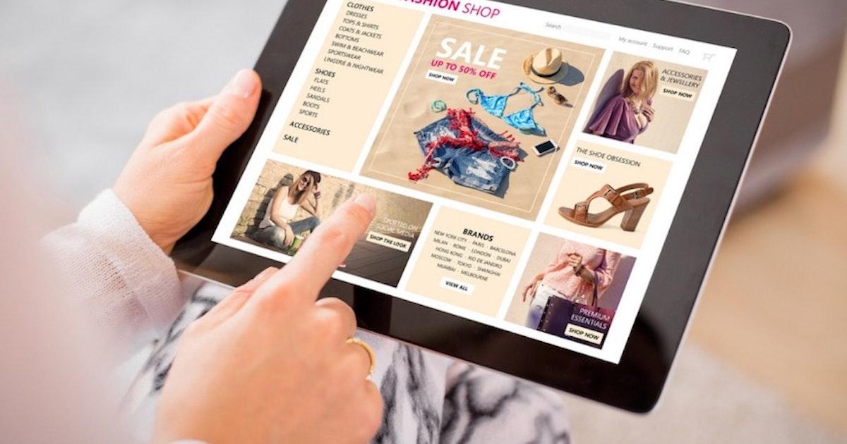 Croissance explosive pour les ventes en ligne, la mode s'effondre