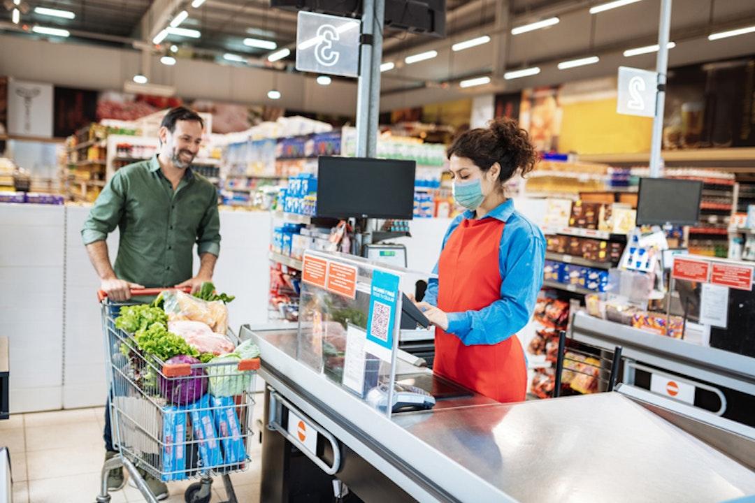 Supermarkten blijven marktleider